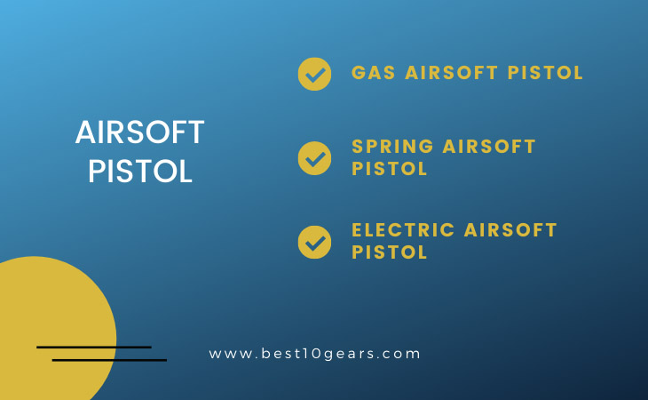 Gas, spring, electric airsoft pistol